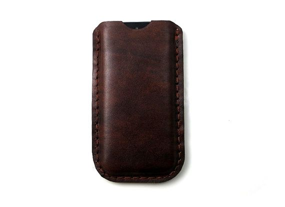 Antique Brown Leather iPhone 5 / 5s sleeve  Iphone by FlyntLeather, $18.00