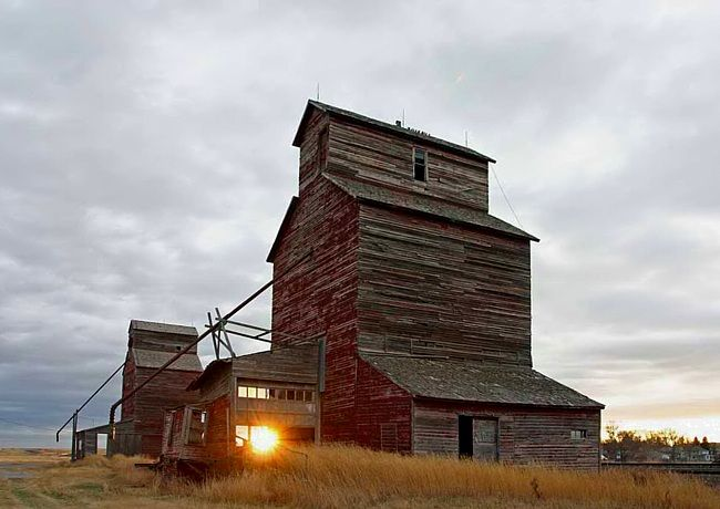 Hobson Grain Elevators. I'm lucky enough to drive past these just to see family!
