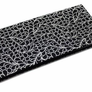 Protège livret de famille en tissu noir et blanc idéal cadeau mariage