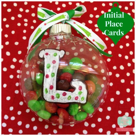 Gingerbread Initial Ornament Christmas Party Favor Table Setting Place Card Xmas Present Black Friday