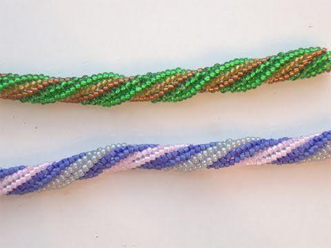 Tutorial Bracciale perline: come creare una spirale Herringbone 2/3 | Tutorial Perline - YouTube