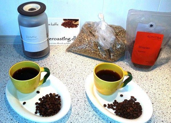 Homeroast vs. kontra Coffee.  Etiopien Yirgacheffe Dumarso. 1st class coffee.   http://interoasting.dk/etiopien-yirgacheffe-dumarso