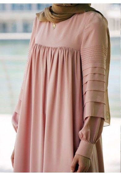 Modest long sleeve maxi dress full length