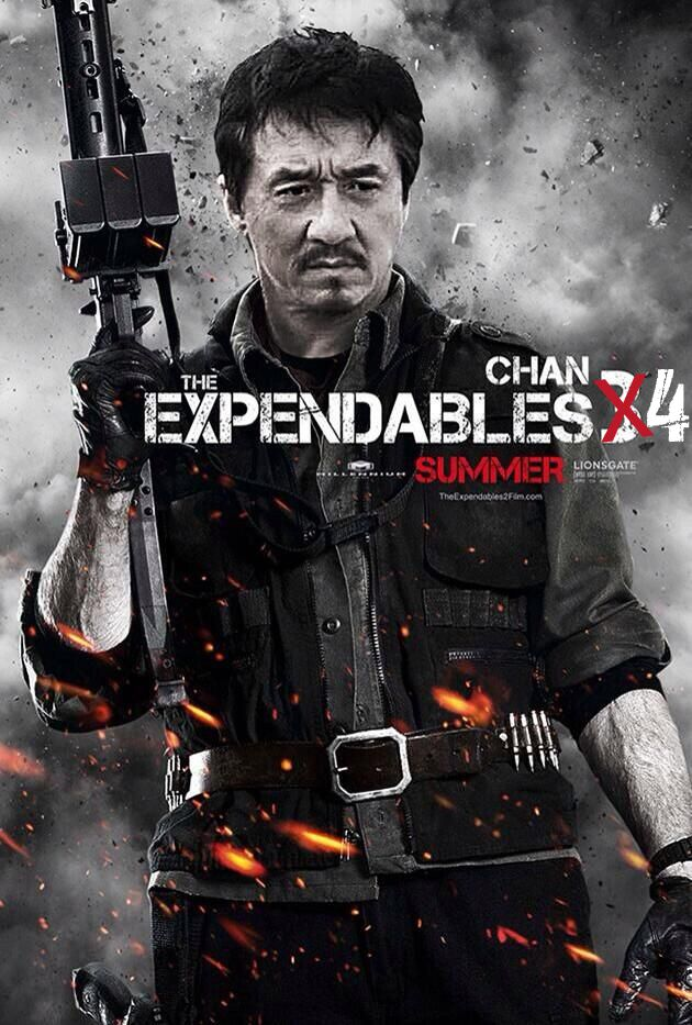 Expendables 4. Jackie Chan has turned down Sly more than once. He hasn't give a NO in the last request to be in the 4th, so we'll see! Martial arts action movie fans, check this out.  http://www.maactioncinema.com/?p=1549