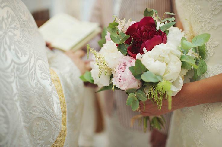 Red  Pink Wedding Bouquet