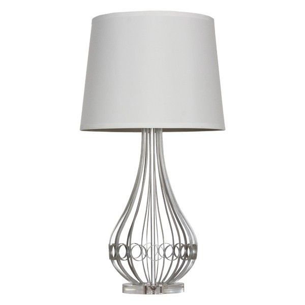 Worlds Away Westin Silver Leaf Lamp