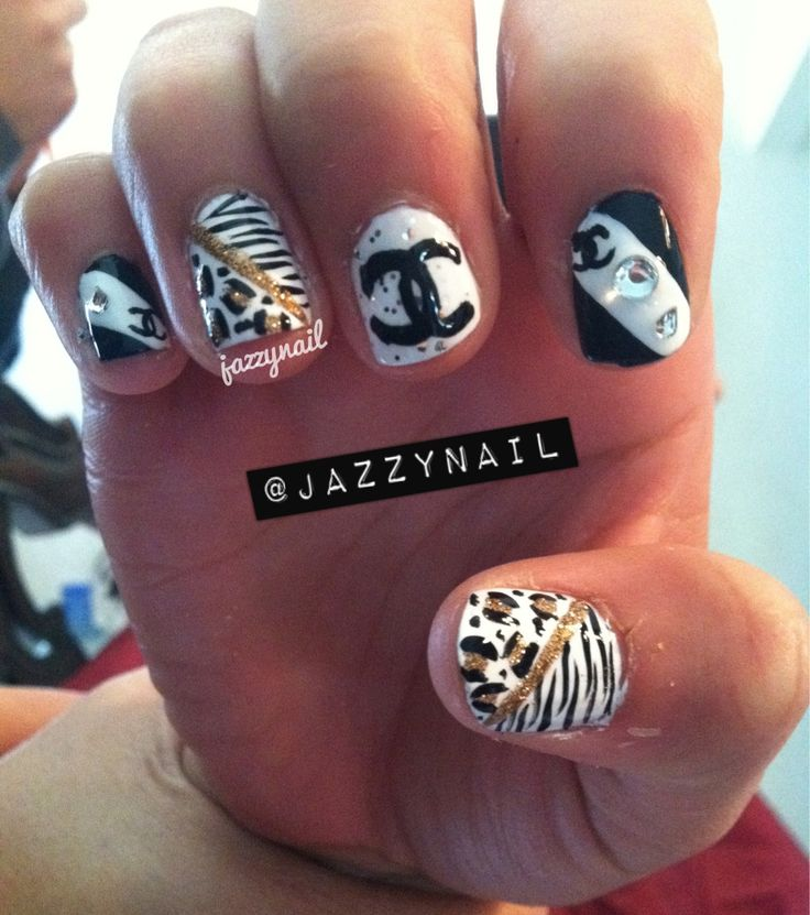 25 trending chanel nail art ideas on pinterest chanel nails chanel nail designs google search prinsesfo Images