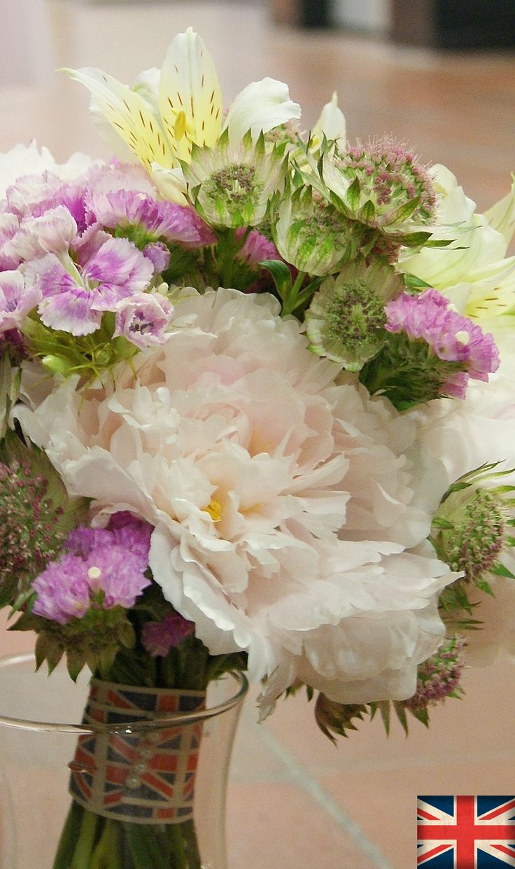 PEONY, ASTRANTIA and SWEET WILLIAM | Florissimo, Shropshire - Flowers for weddings, events and businesses in Shropshire and beyond. British-grown peony generally avail May-Jul, sweet William May-Sept, astrantia May-Jul