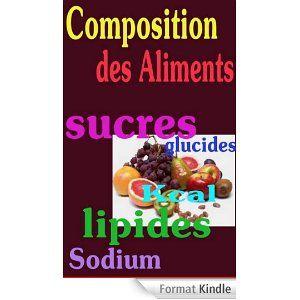 Composition des Aliments ebook contenant les compositions de base de 1440 aliments courants en France