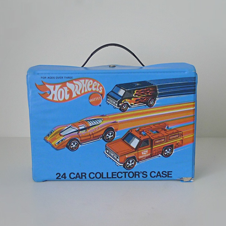 Toy Car Case : Vintage hot wheels car carrying case s mattel toy