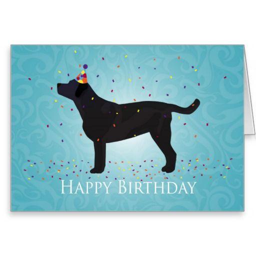 Black Lab Happy Birthday Design
