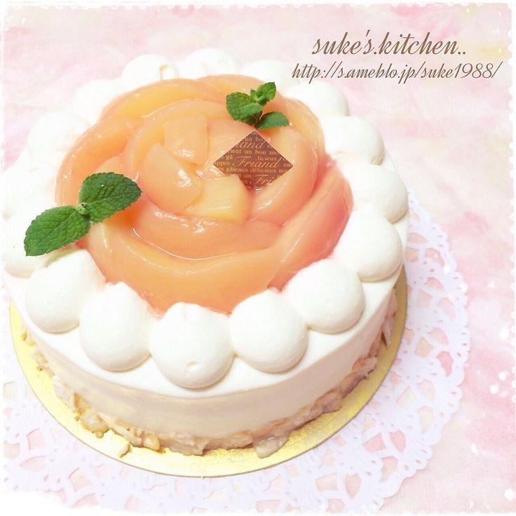 桃のショートケーキ | ペコリ by Ameba - 手作り料理写真と簡単レシピでつながるコミュニティ -