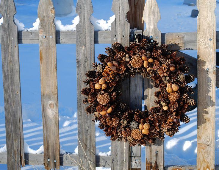 věnec na dveře zimní - Hledat Googlem