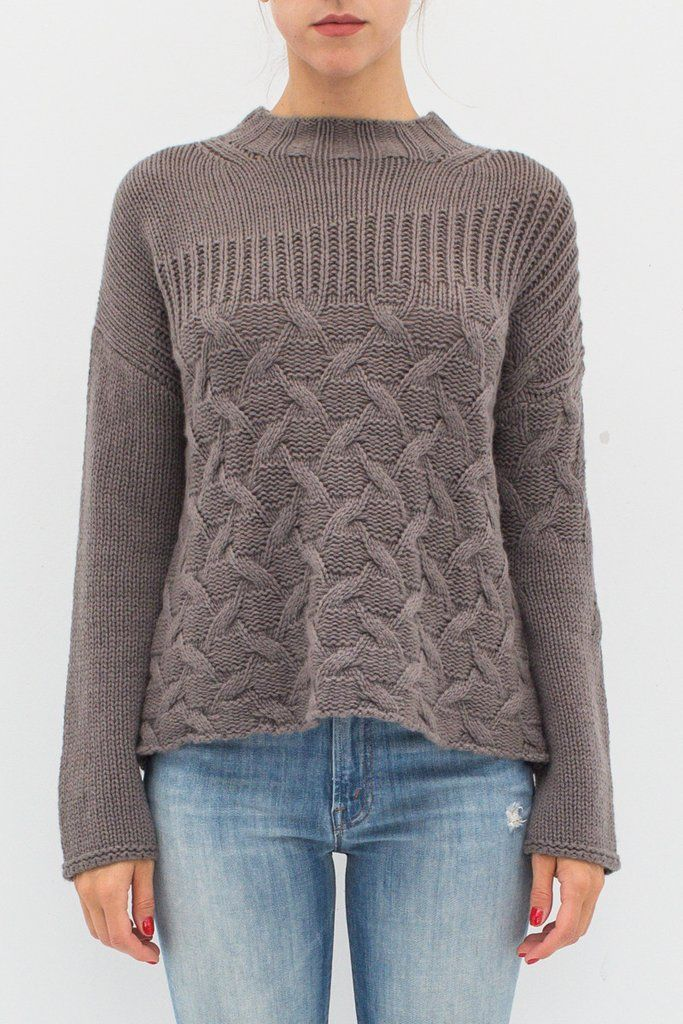 MIXED STITCH CREW SWEATER From ShopHeist.com!