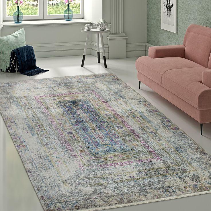 Designer Vintage Teppich #aztekenmuster #ornamente #bunt #Mehrfarbig #teppich