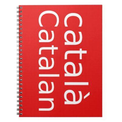 Catalan Language Design Notebook - office ideas diy customize special