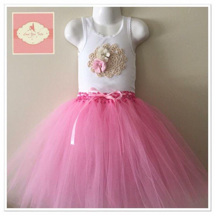 Pink  3/4 tutu skirt  Available on the website  www.loveyoututu.com.au
