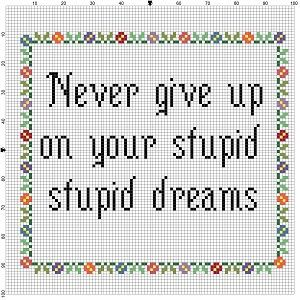 Never Give Up on Your Stupid Stupid Dreams by SnarkyArtCompany