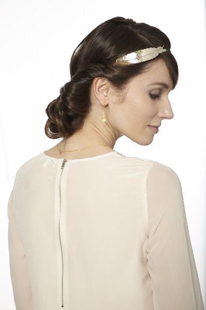 Chignon serre tête #coiffure #mariage