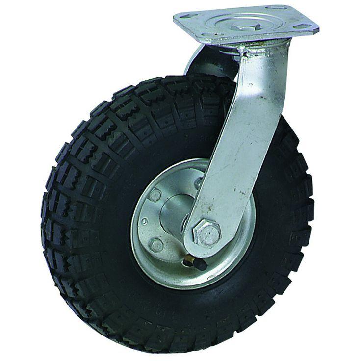 "Harbor Freight Gantry Crane >> 10"" Pneumatic Swivel #Caster | Dollies, Hand Trucks & Wheels | Rubber tires, Truck wheels ..."