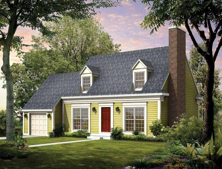 Eplans Cape Cod House Plan - Cape Cod Update - 1747 Square Feet and 3 Bedrooms from Eplans - House Plan Code HWEPL00868