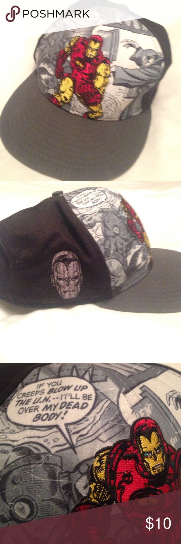 Marvel superhero hat Cool Marvel Ironman hat. Worn but in good condition. Marvel Accessories Hats