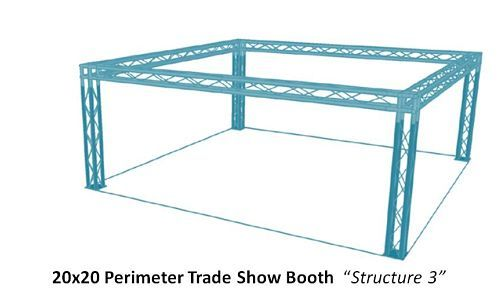 20x20 Square perimeter trade show booth #20x20tradeshowbooth