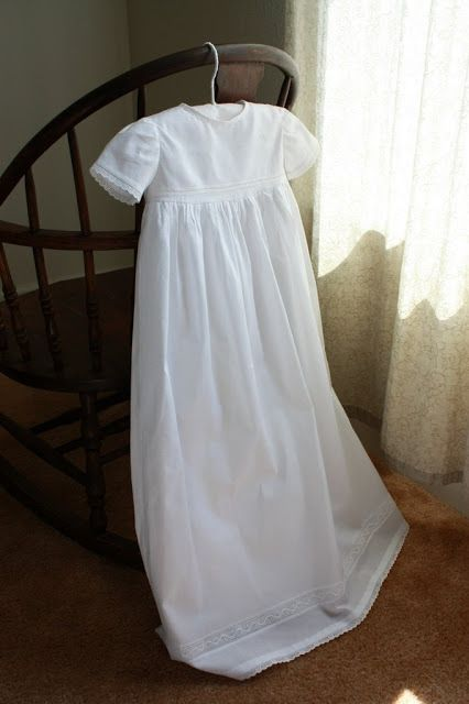 Simplicity 5813, the pattern I am using! This looks beautiful!-  A Christening Gown for Julia