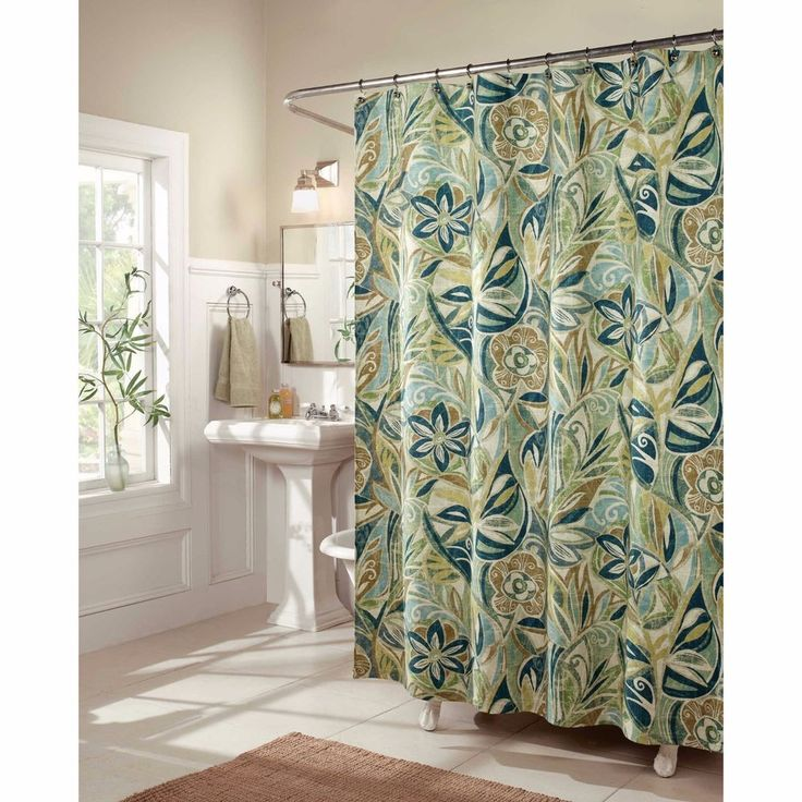 Tropical Shower Curtains Fabric | o2 Pilates