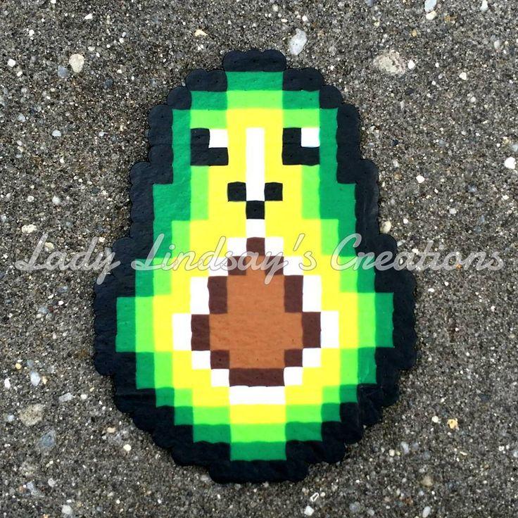Perler Beads Chibi Avocado - Lady Lindsay Creations