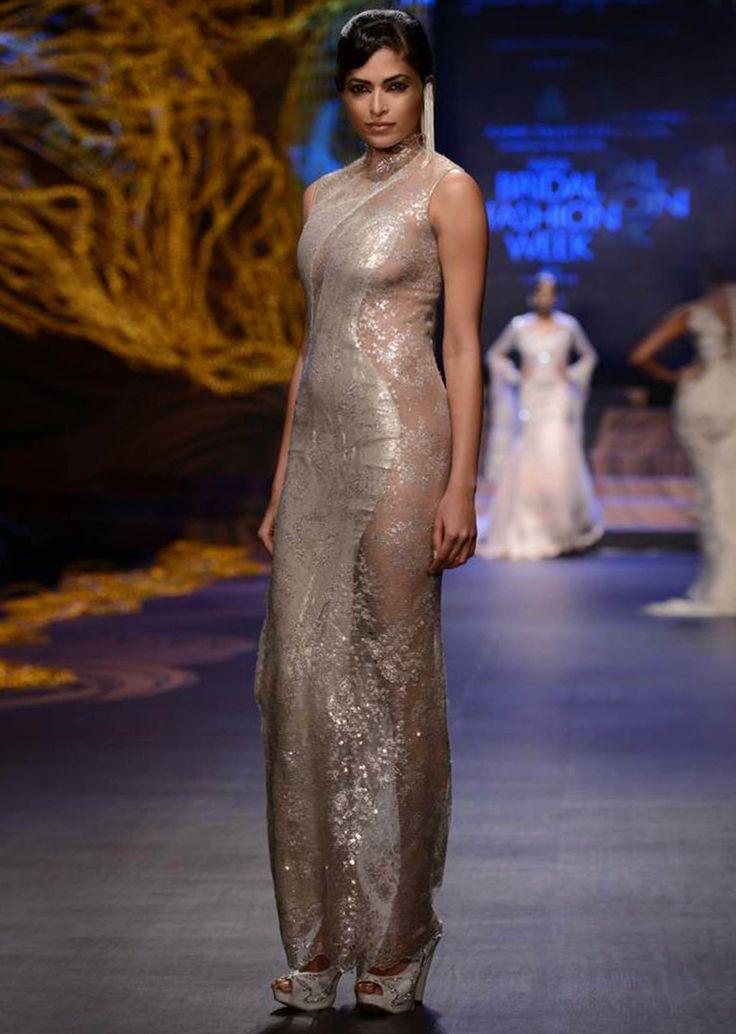 Models walk the ramp for designer Gaurav Gupta,s Night fall collection at Indian Bridal Week Nov 2013 at Mumbai 33