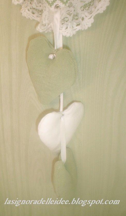 Cuoricini profumati usati come decorazione