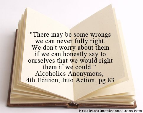 #Quote from #Alcoholics #Anonymous, 4th Edition, Into Action. #Wise words, indeed.