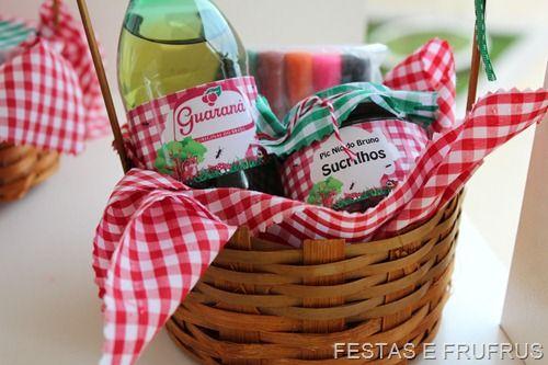 Lembrança para festa Pic Nic na Floresta!  www.festasefrufrus.com