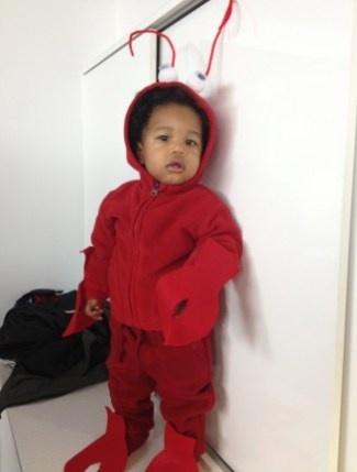 #DIY lobster baby #Halloween costume.