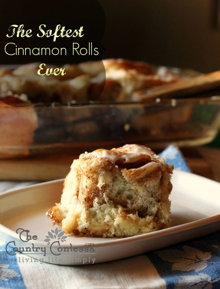 The softest cinnamon rolls I've ever made! These are so good! #cinnamon #rolls
