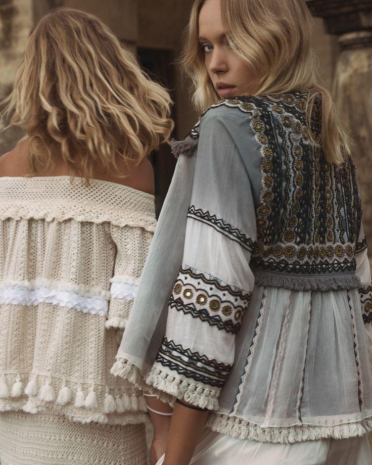 Ruby Yaya | Spring Summer 2017 Embroidered jacket. #Bohemian #craft #handmade #embroidery #elegant #unique