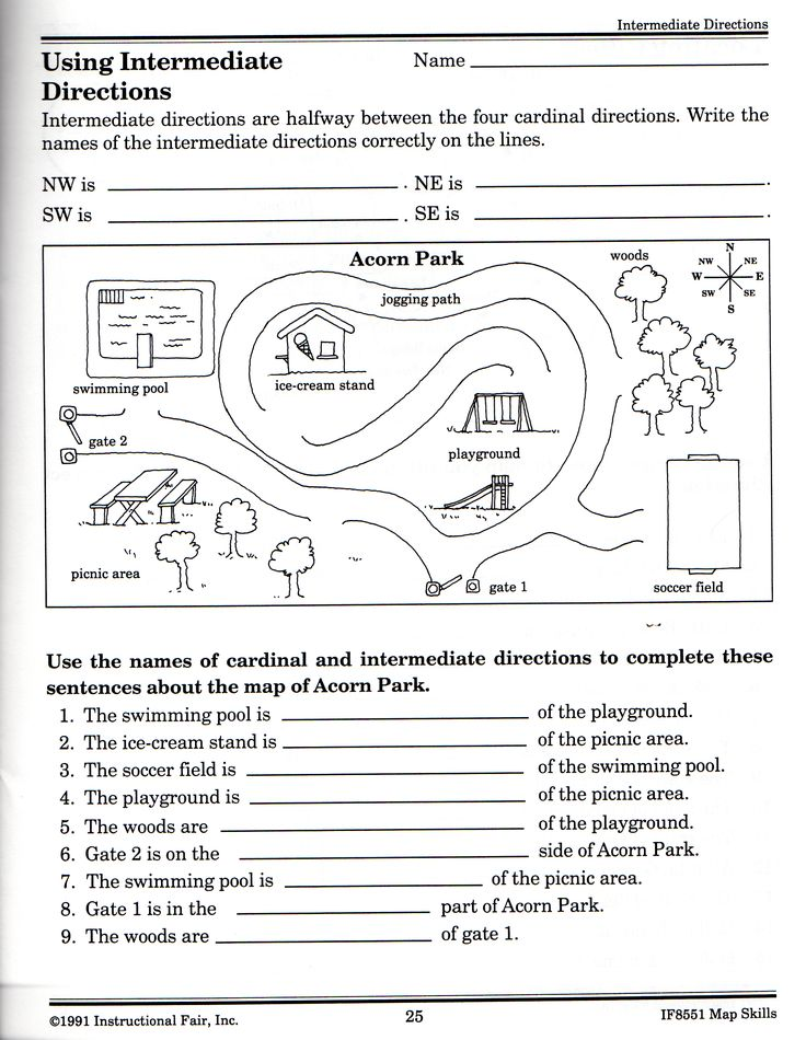 Free printable map skills worksheets for 3rd grade