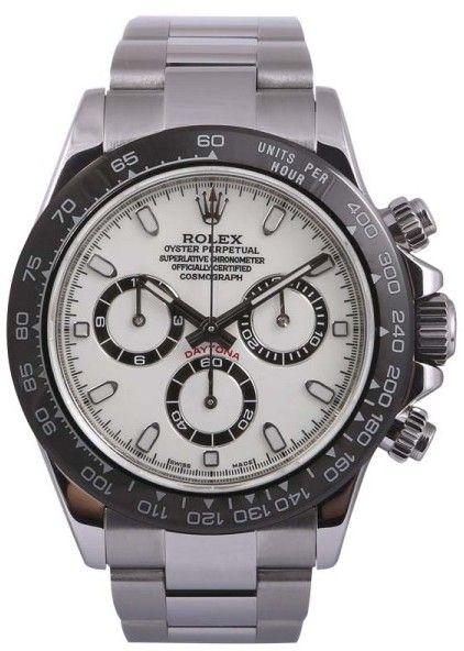 Rolex Daytona 116520 Stainless Steel White/Black Dial-Black Insert 40mm Mens Watch