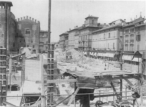 Bologna, Palazzo Ronzani: lavori in corso