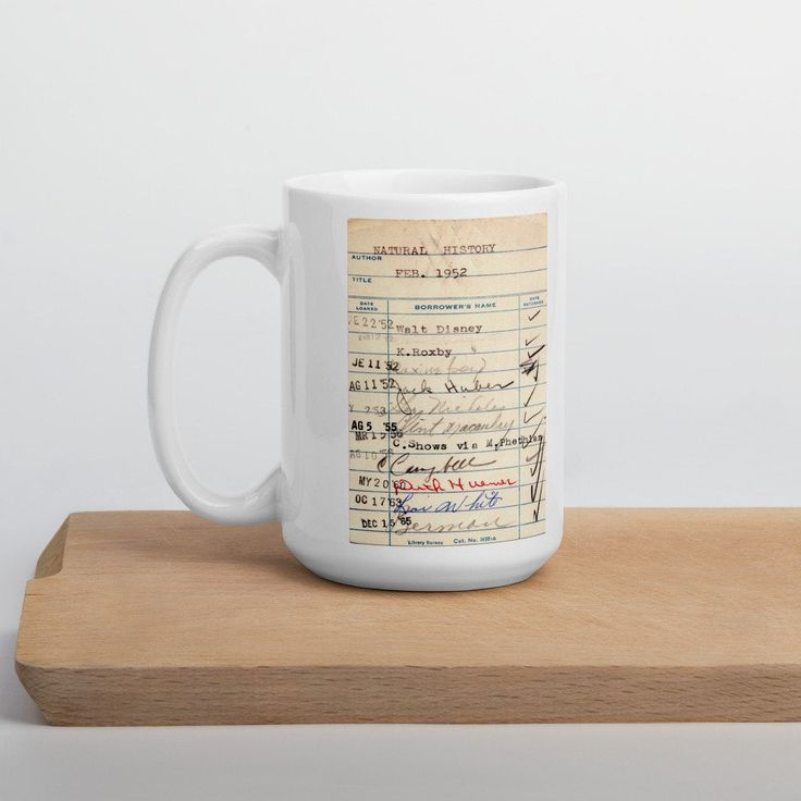 Library Card Coffe Mug - Book Club Gift - Coffee Tea Cup ...