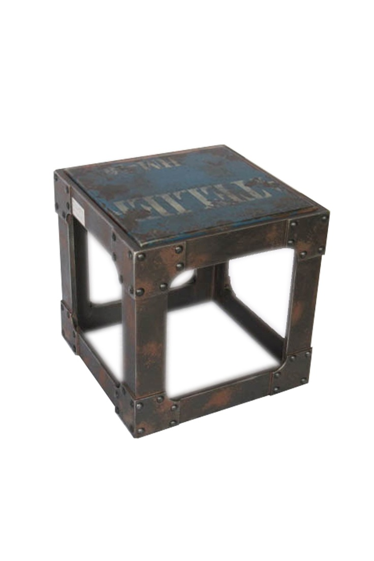 32 best images about wrought iron railings on pinterest for Rustic industrial end table