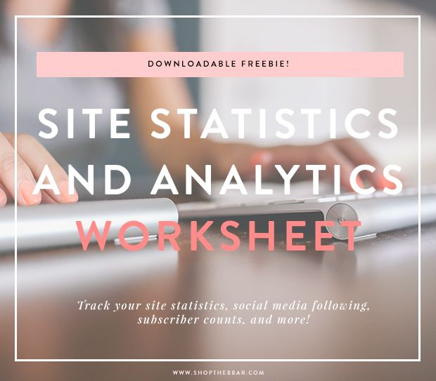 downloadable site statistics worksheet
