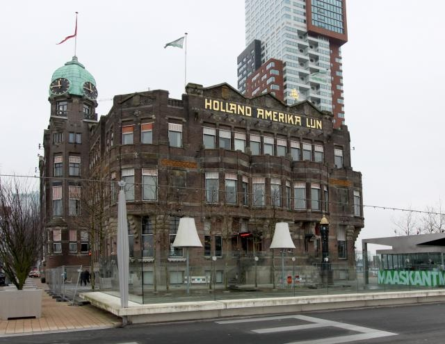 Holland America Line in Rotterdam. Birthplace in 1873 and in 2013 celebrated 140 years of sailing the world. This is the former HQ which is now known as Hotel New York.