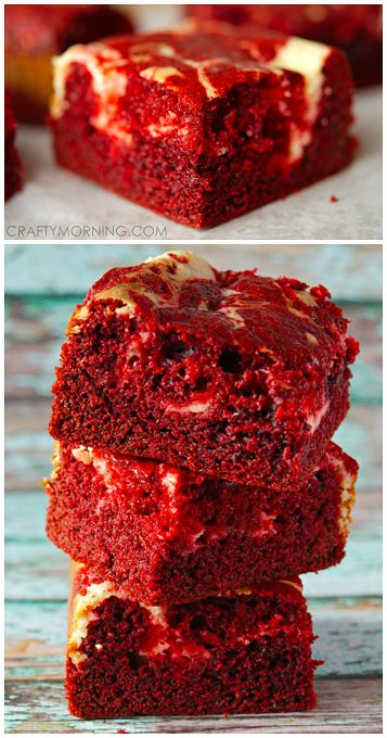 Red Velvet Cheesecake Brownie Recipe - Yummy valentine's day dessert idea! Looks delish!
