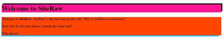 CSS Box Shadow Tutorial http://www.siteraw.com