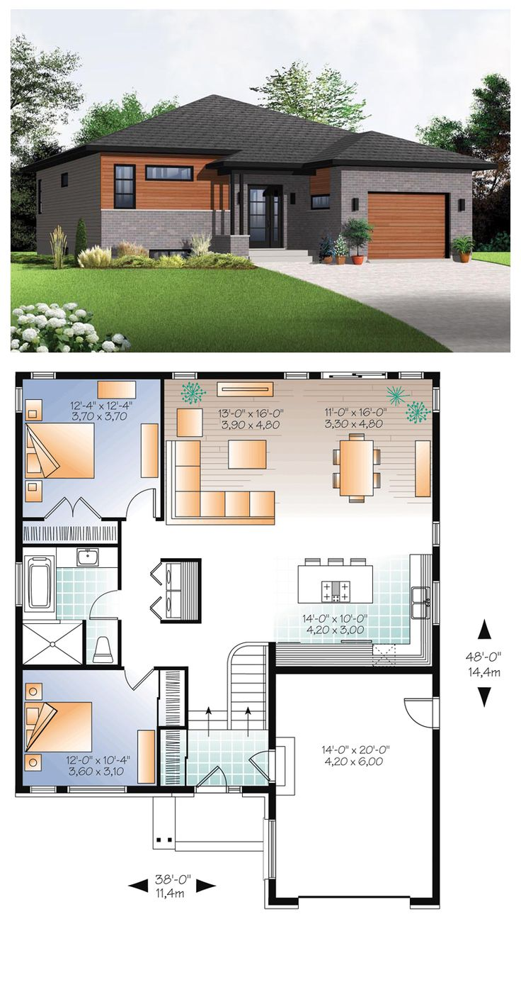 1000 ideas about modern house plans on pinterest modern for 6 foot wide living room
