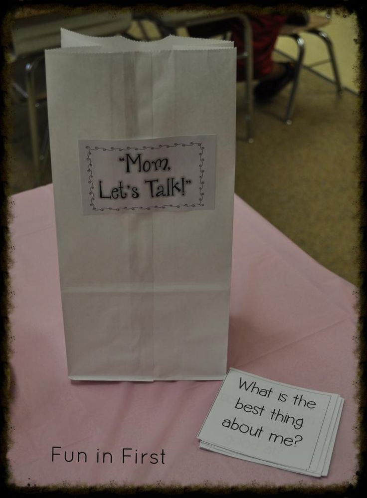 """""""Mom, Let's Talk!"""" Conversation starters for Mother's Day or anyday from Fun in First."""