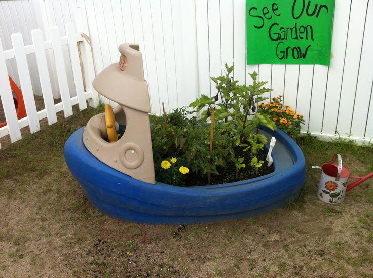 Adorable raised garden for children