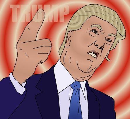 Caricature of casino mogul Donald Trump